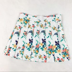 Janie and Jack textured floral pleated skirt